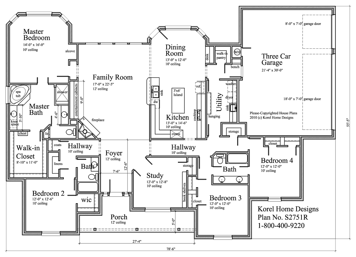 S2751r texas house plans over 700 proven home designs for Korel home designs online