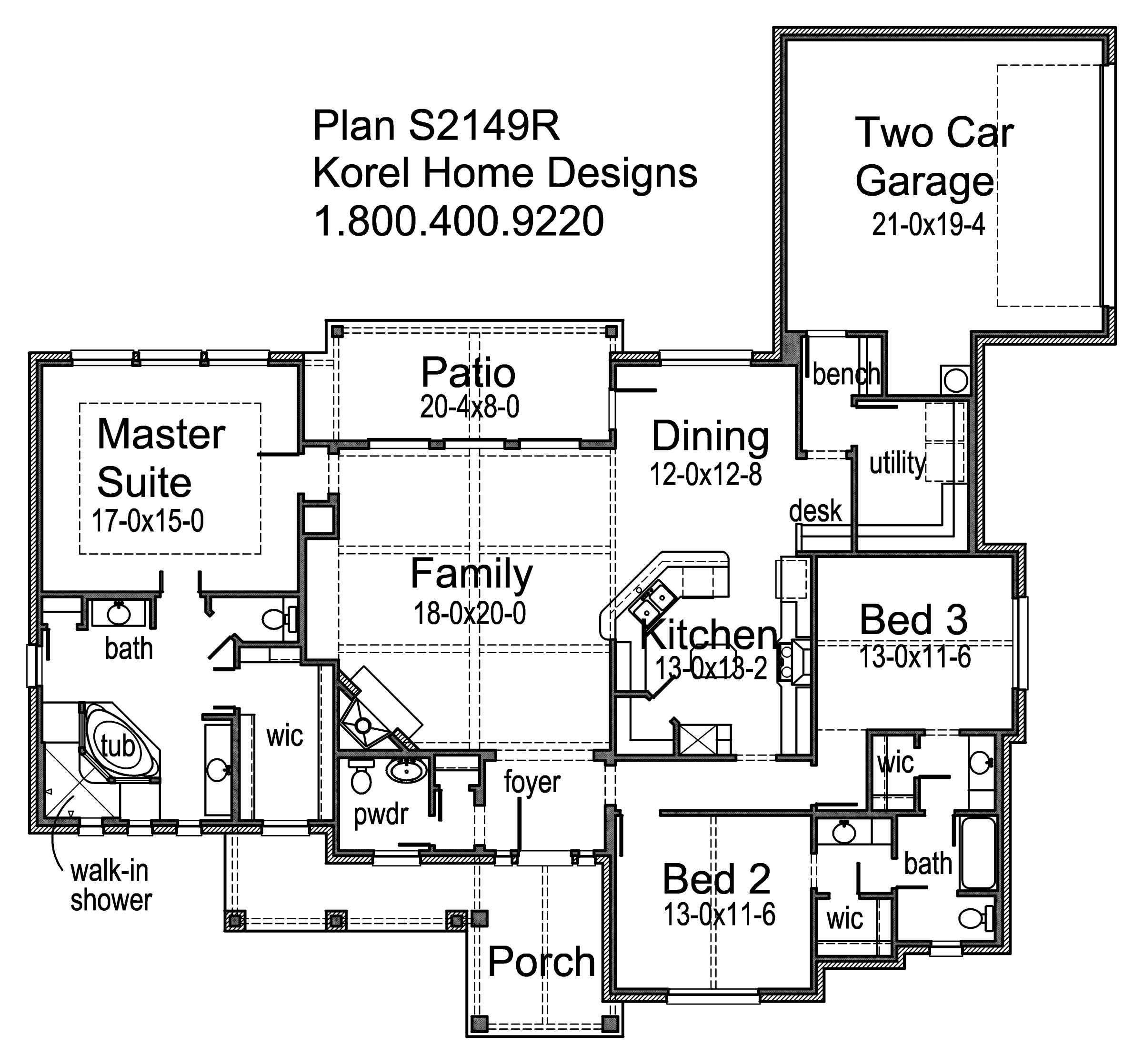 s2149r texas house plans over 700 proven home designs ForKorel Home Designs Online