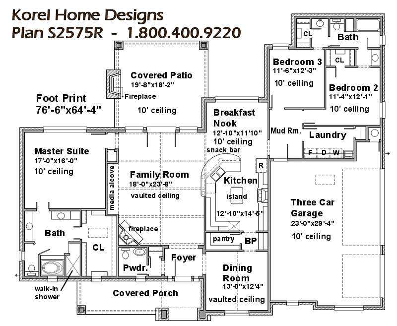 S2575R | Texas House Plans - Over 700 Proven Home Designs Online ...