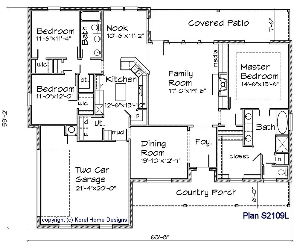 S2109l texas house plans over 700 proven home designs for Korel home designs online
