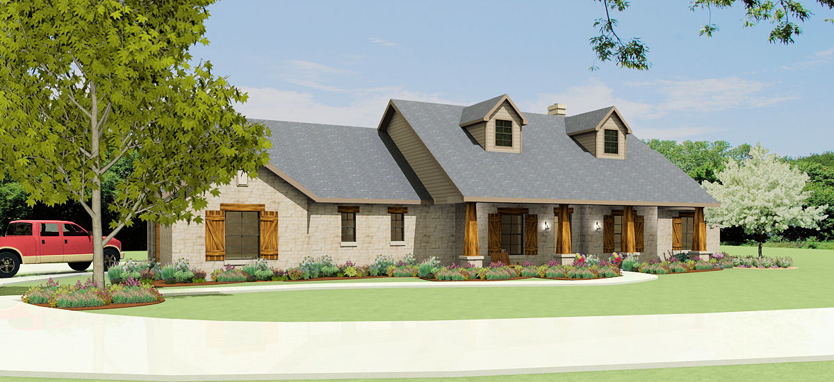 Texas hill country ranch s2786l texas house plans over Texas hill country house designs