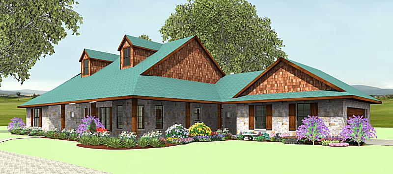 Wrap around porch s2635b texas house plans over 700 for Texas ranch house plans with porches