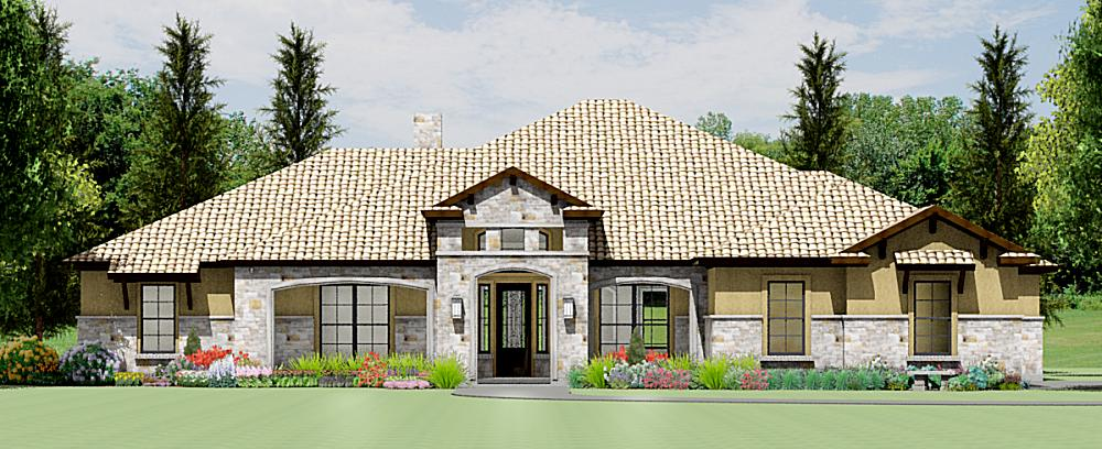 Tuscan hill country house plans for Hill country style home plans