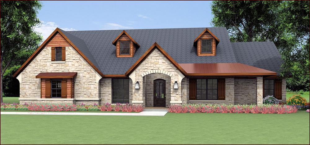 Country Home Design S2997L. Front Elevation. Front Elevation