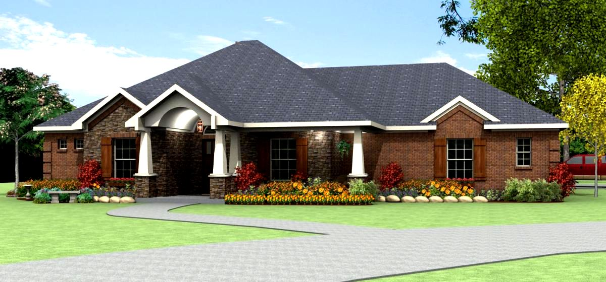 Family home plan s3062r texas house plans over 700 for Korel home designs