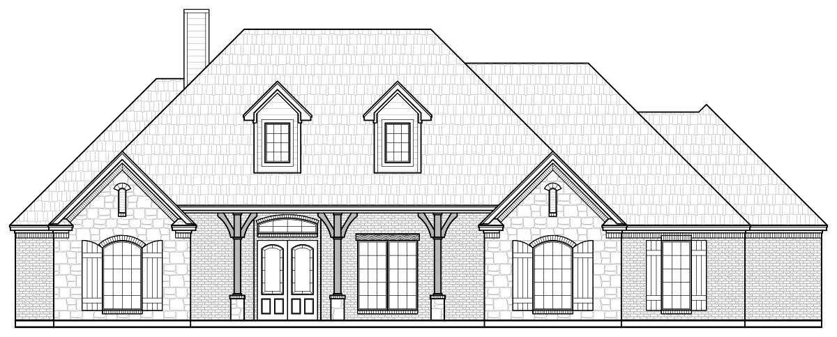 Front Elevation Pdf : S r texas house plans over proven home designs