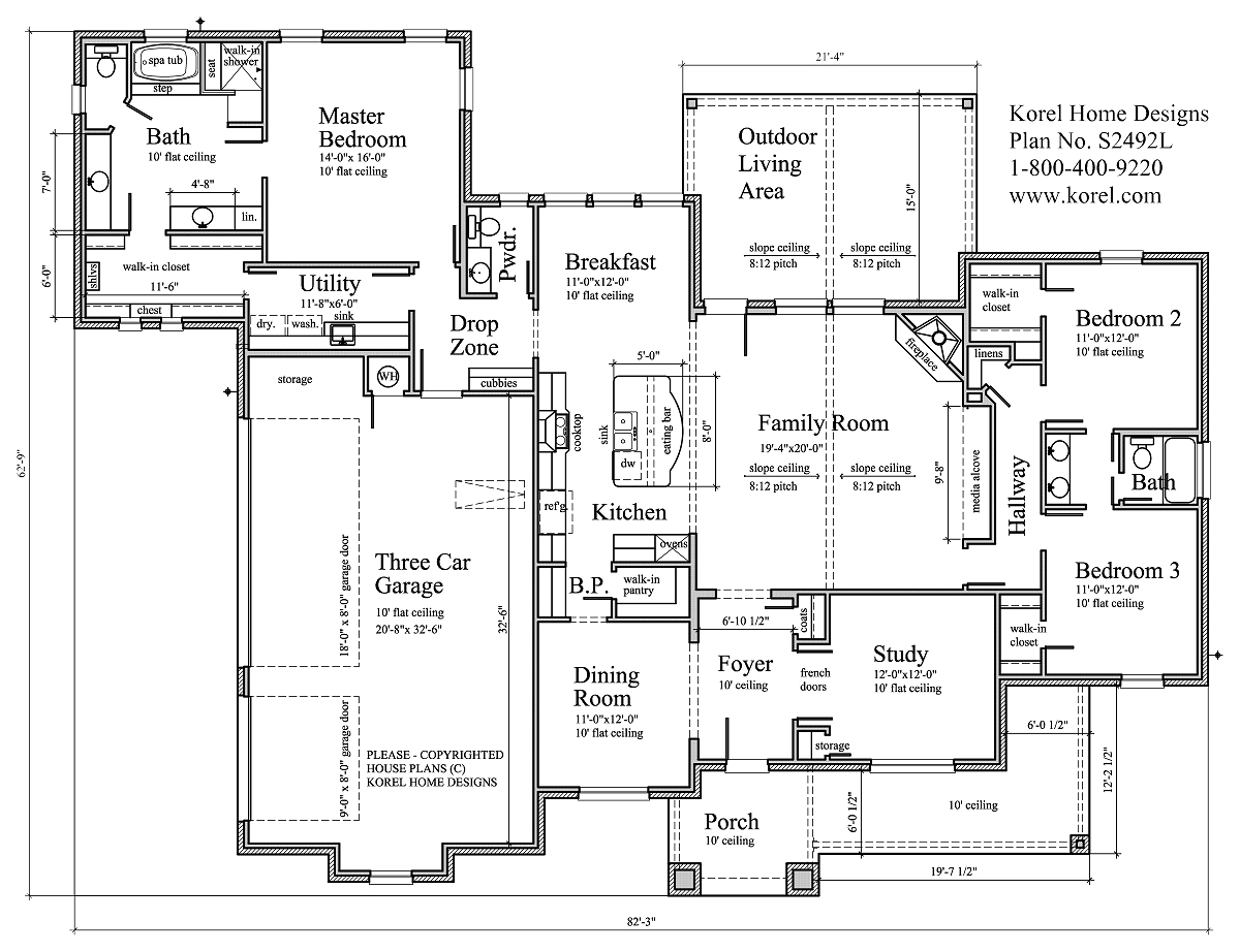 s2492l | texas house plans - over 700 proven home designs online