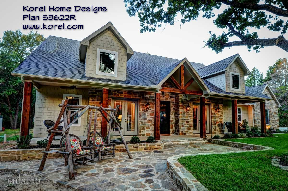 Country house plan s3622r texas house plans over 700 for Texas hill country home plans