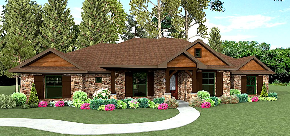 Ranch style home plans texas house design plans for South texas house plans