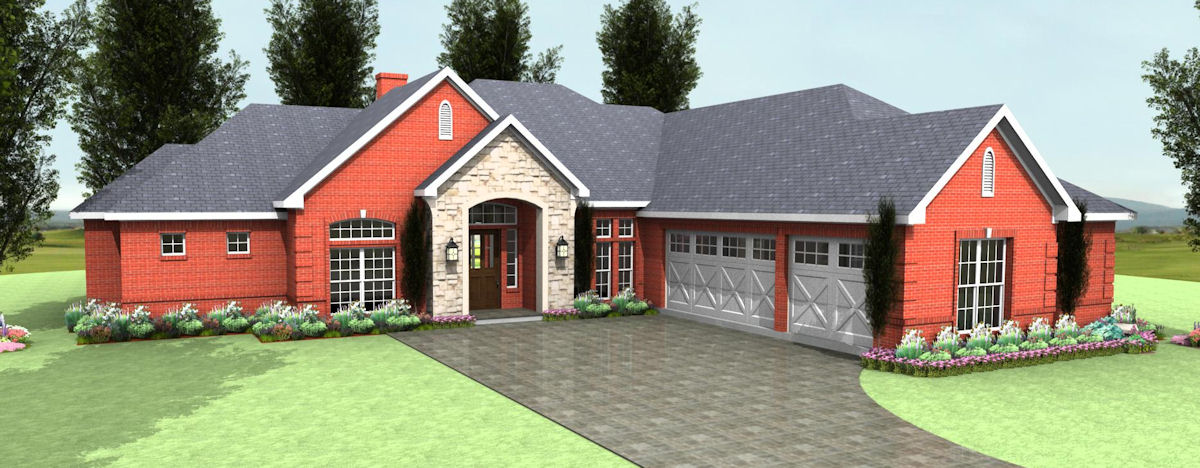 Country Club Plan S2792R. Gorgeous Home!