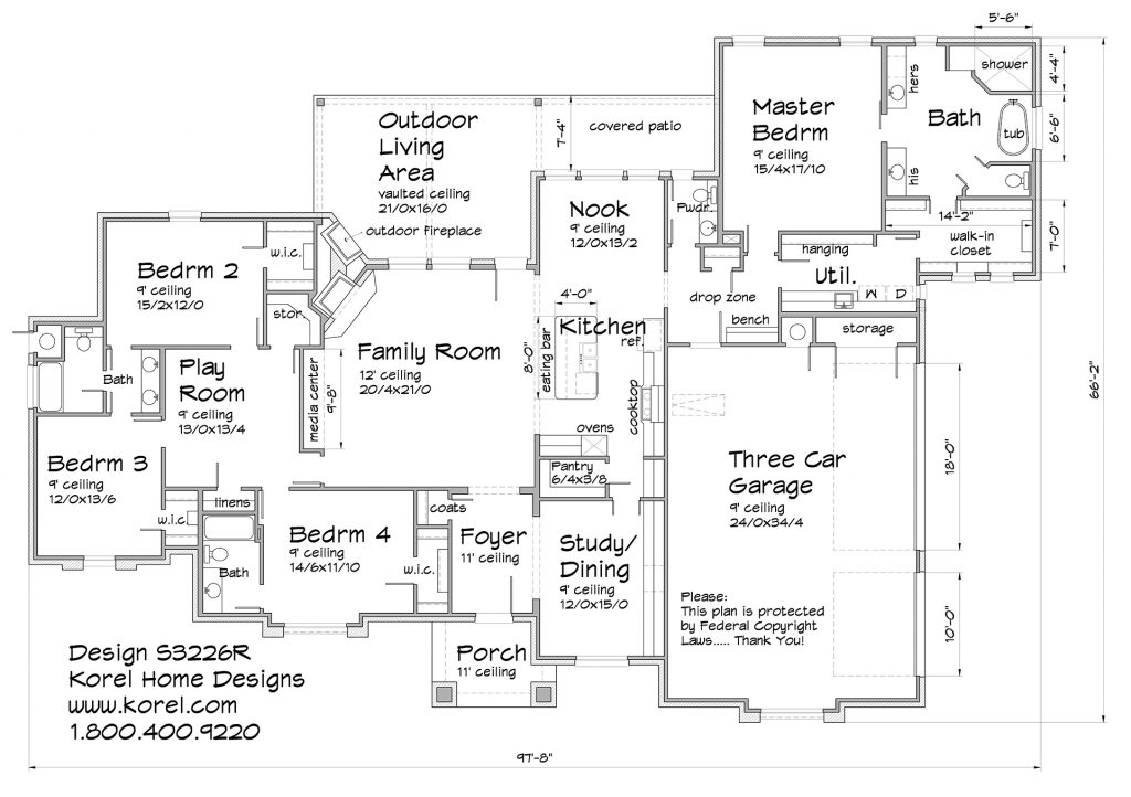 S3226r texas house plans over 700 proven home designs for Texas floor plans